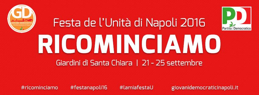 2016.09.21 I Giovani Democratici ricominciano dal cuore di Napoli al via la Festa dellUnita