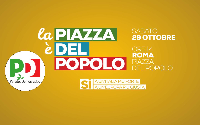 2016.10.27 La piazza e del popolo tutti a Roma il 29 ottobre