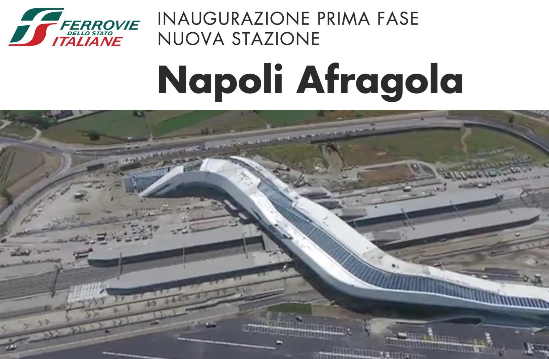 2017.06.08 Il treno e finalmente passato apre la stazione AV di Napoli Afragola