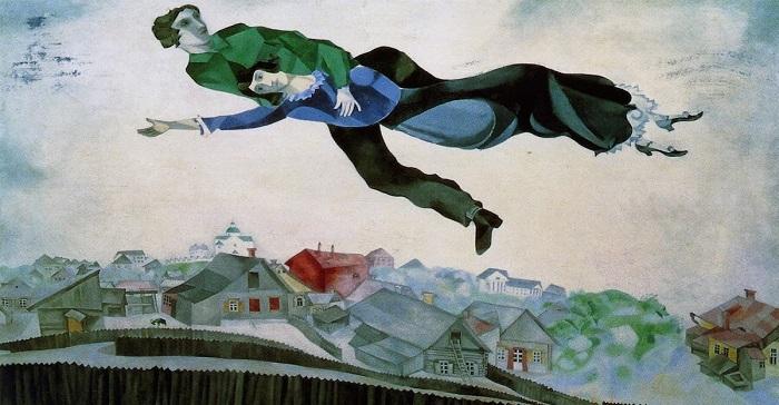Marc Chagall Sulla città 1918 ZAPELLI MATTEO