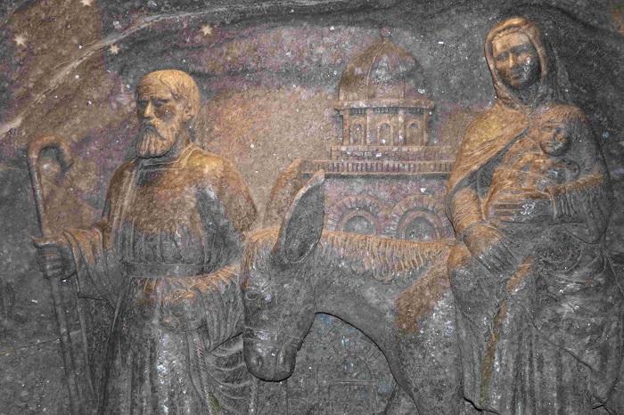 sculture della miniera di sale