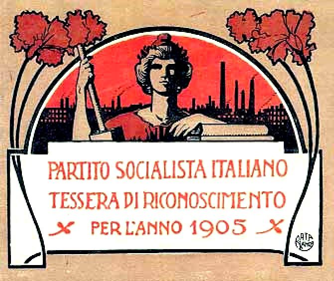 1905 tessera del Partito Socialista Italiano