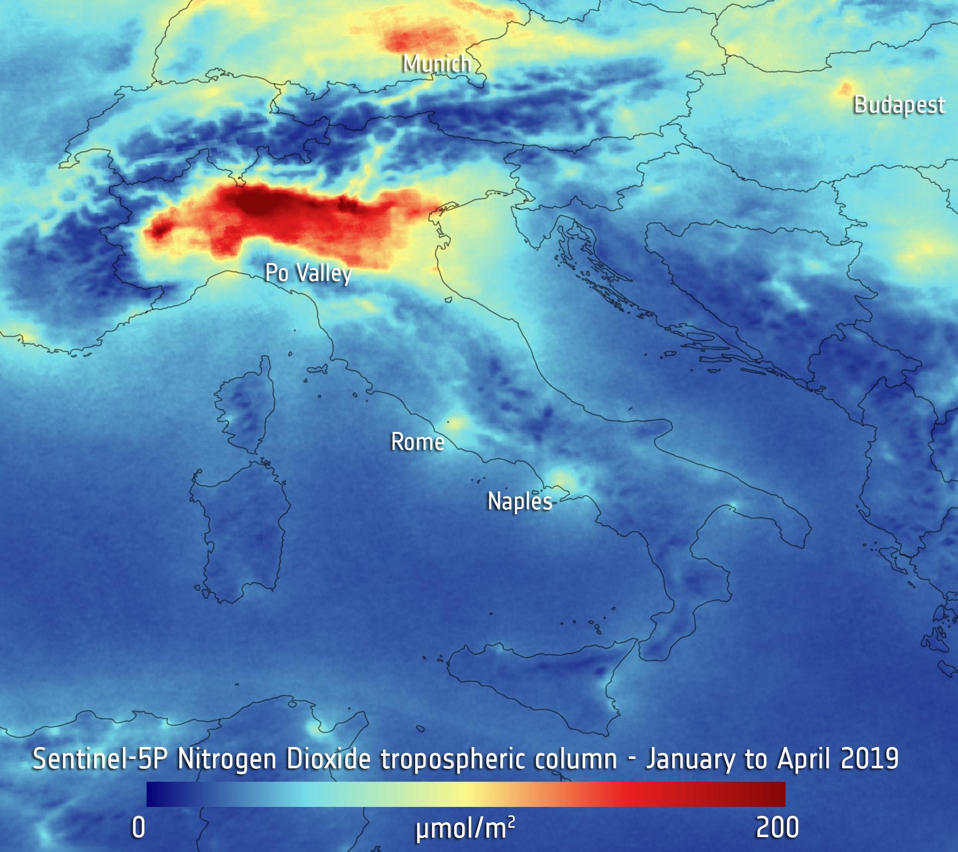 2020.04.30 Foto Pianura Padana smog 2019