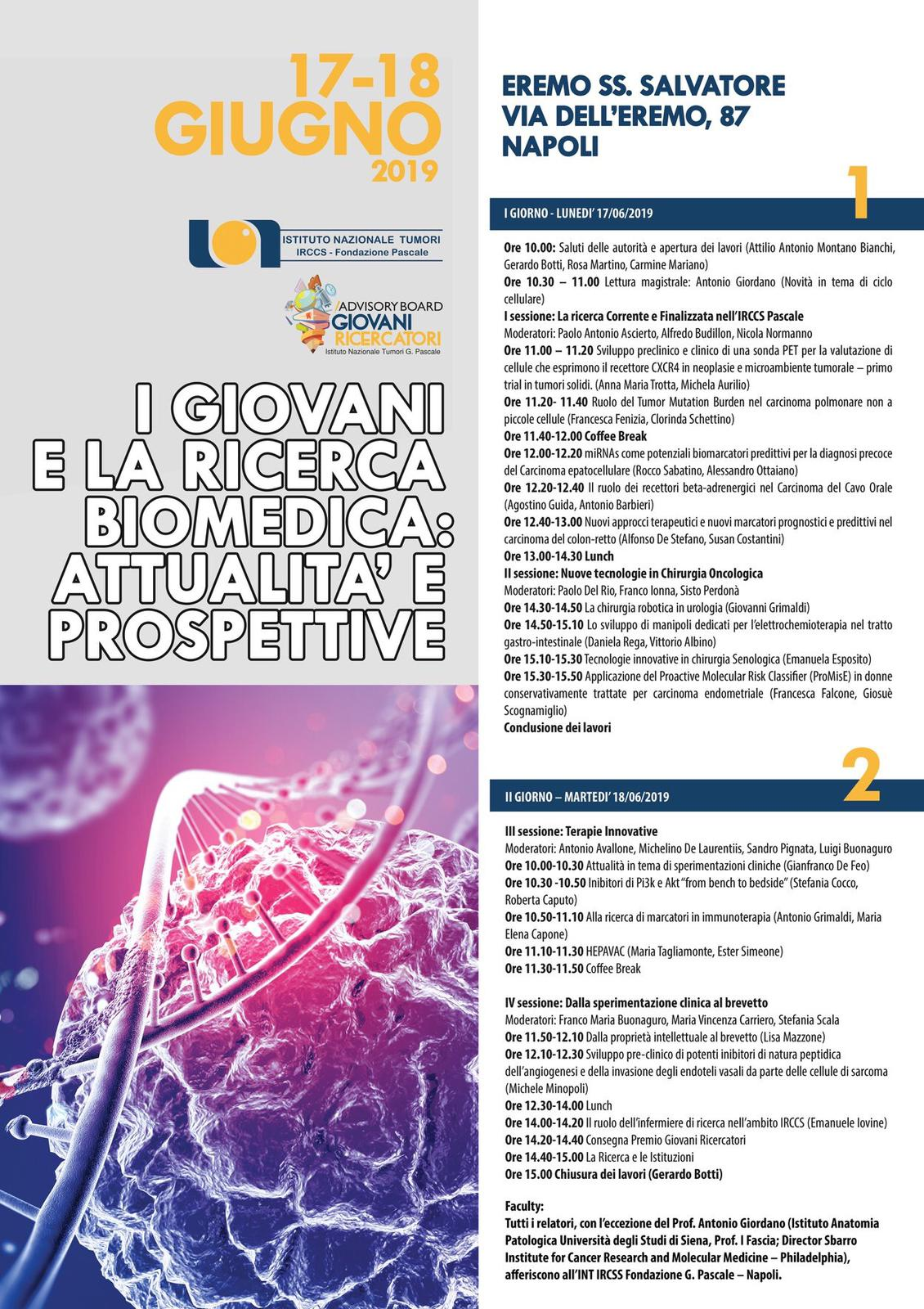 i giovani e la ricerca biomedica